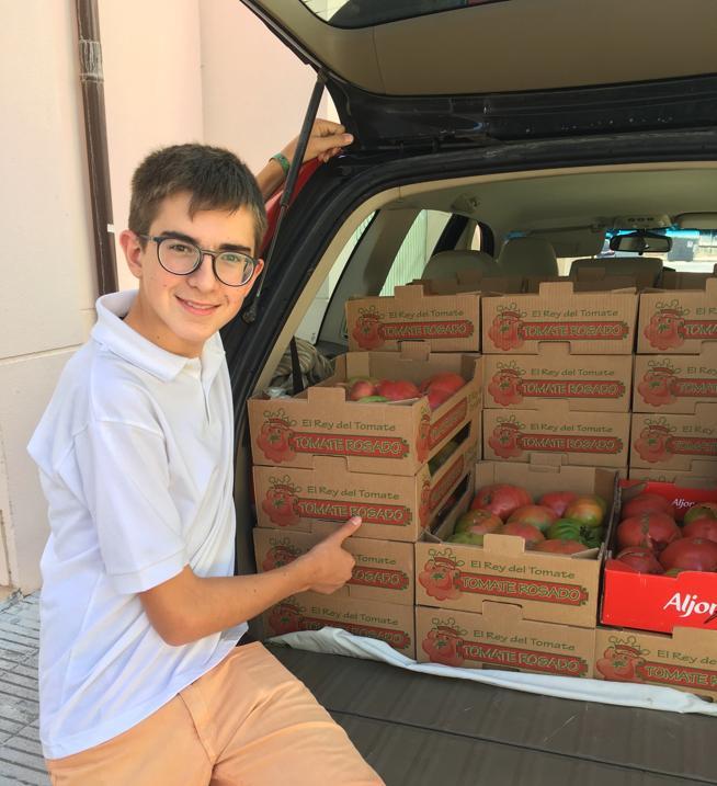 Javier, responsable de El Rey del Tomate