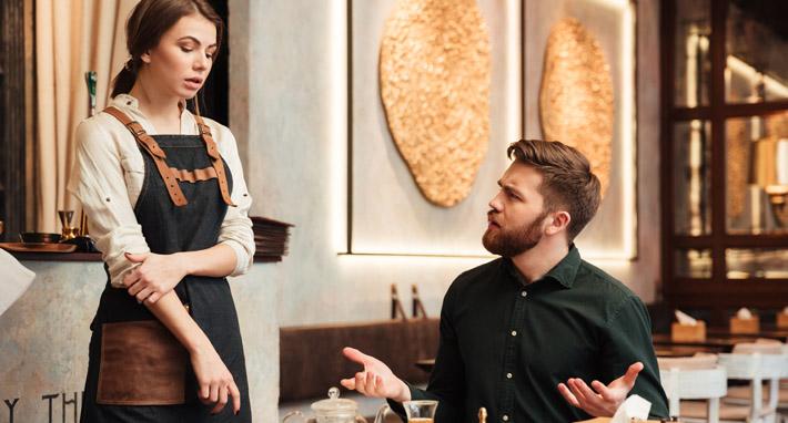 trabajo de camarero o camarera